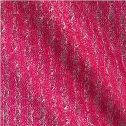 Textured Sweater Knit Hot Pink