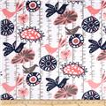 Premier Prints Menagerie Minky Cuddle Coral