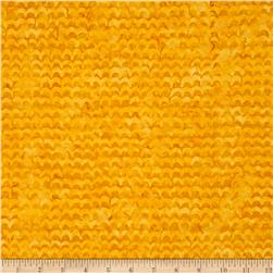 Michael Miller Batik Spa Scallop Yellow