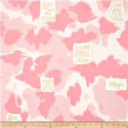 Michael Miller Sarah Jane Magic Metallic You Are Magic Pink