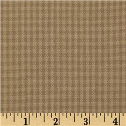 Yarn Dyed Fun Flannel Check Taupe