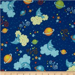 Kid's Corner Tossed Planets Navy/Multi