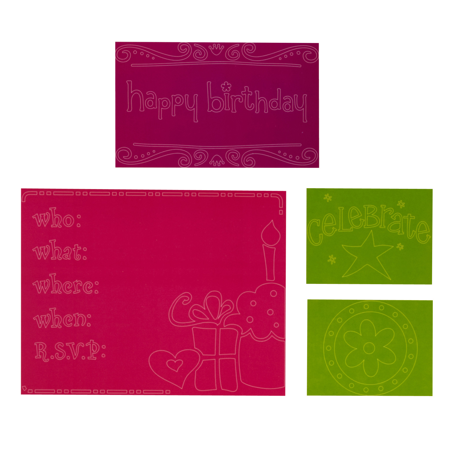 Sizzix Textured Impressions Birthday Set by Rachael Bright