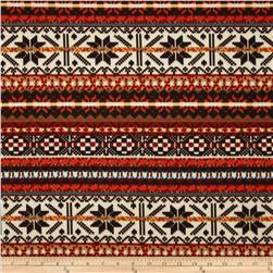 Techno Scuba Knit Fair Isle Rust