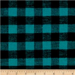 Yarn Dyed Flannel Check Green Black