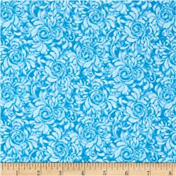 Fabric Freedom Butterfly Meadow Swirl Blue