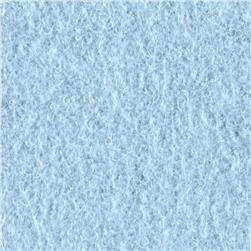 Cotton Fleece Solid Heathered Baby Blue