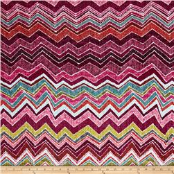 Sweater Knit Chevron Fuchsia/Yellow/Garnet