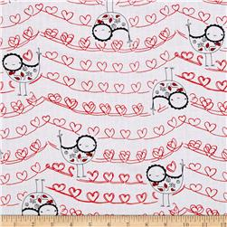 The Red Thread Birds Hearts White Multi