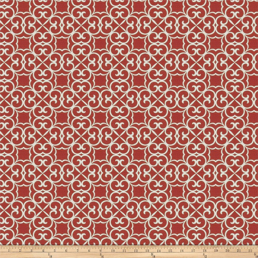 Fabricut Hank Scroll Poppy