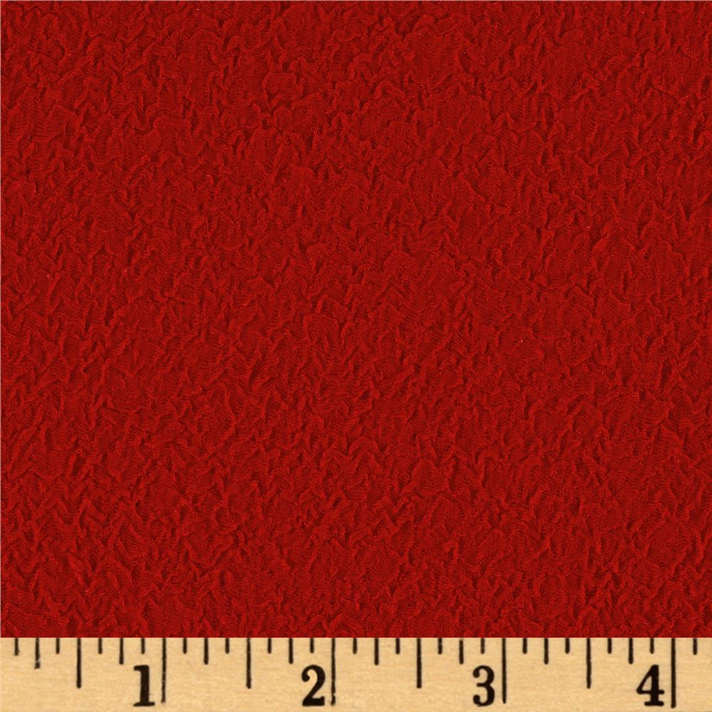 Crinkle Rib Double Knit Scarlet Red