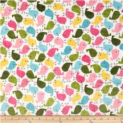 Minky Cuddle Urban Zoologie Chick Cuddle Fuchsia Fabric