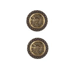Dill Buttons 1'' Full Metal combination Antique Gold