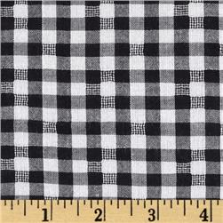 Cotton Plaid Voile Yarn Dyed Black/White