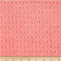 Michael Miller Minky Solid Dot Coral