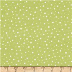 Kimberbell Little One Flannel Too! Flannel Random Dots Green White