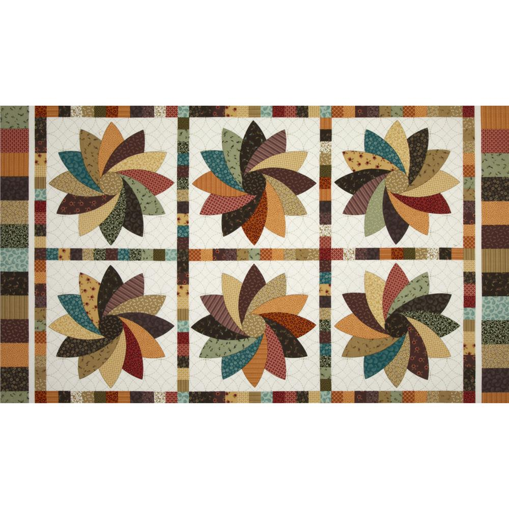 Left Bank Pinwheel Quilt Panel Multi