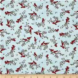 Frolic in the Snow Flannel Cardinals Blue