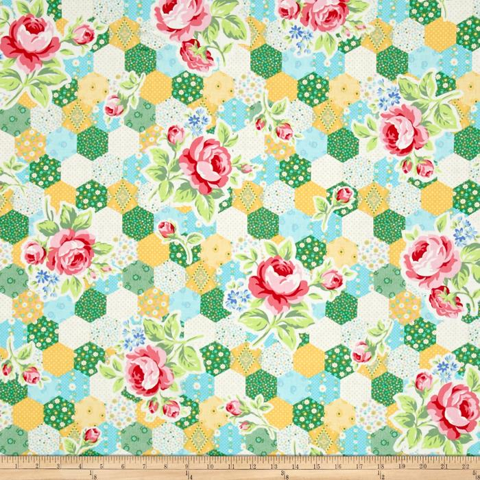 Lecien Flower Sugar Hexie Floral Yellow