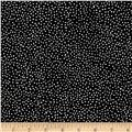 Kaufman Black & White Tiny Dots Black