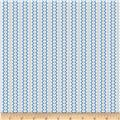 Back Porch Basics Rickrack Stripe Blue