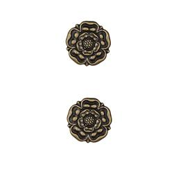 Dill Buttons 7/8'' Full Metal Button Antique Brass