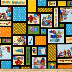 Moda Beary Happy Birthday Patchwork Black