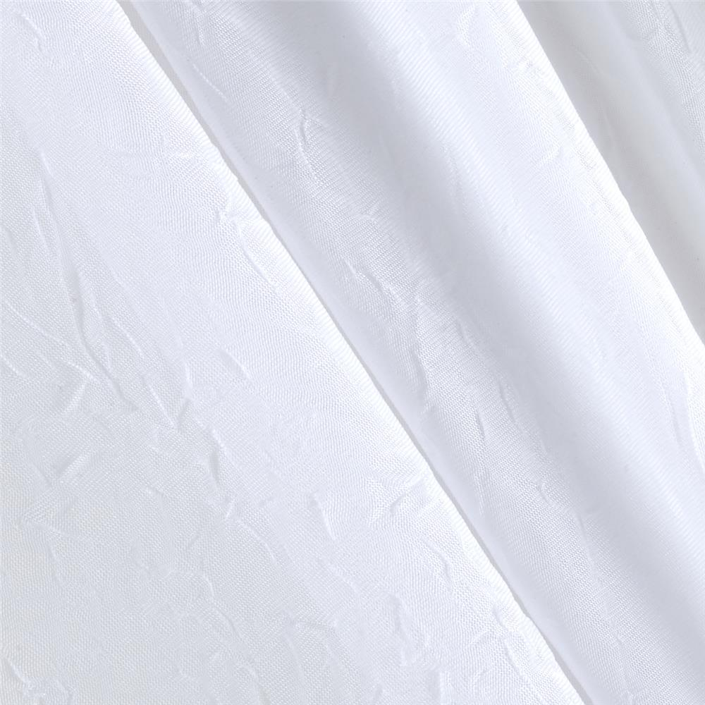 108'' Crushed Sheer Voile White Fabric By The Yard