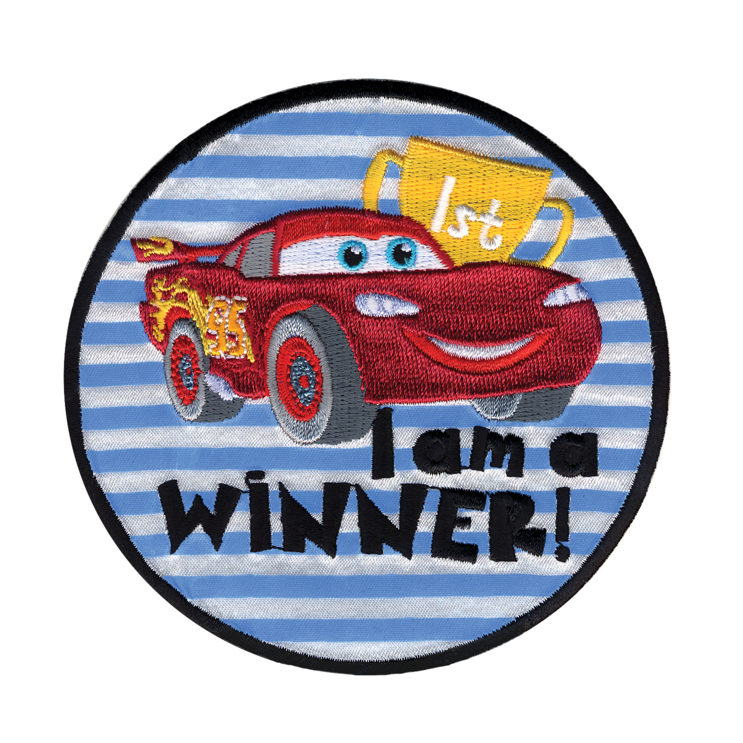Disney Cars Iron On Applique I'm A Winner by Notions Marketing in USA