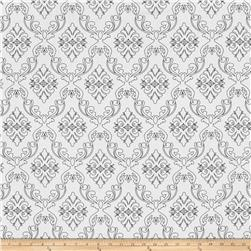 The Coloring Collection Damask White