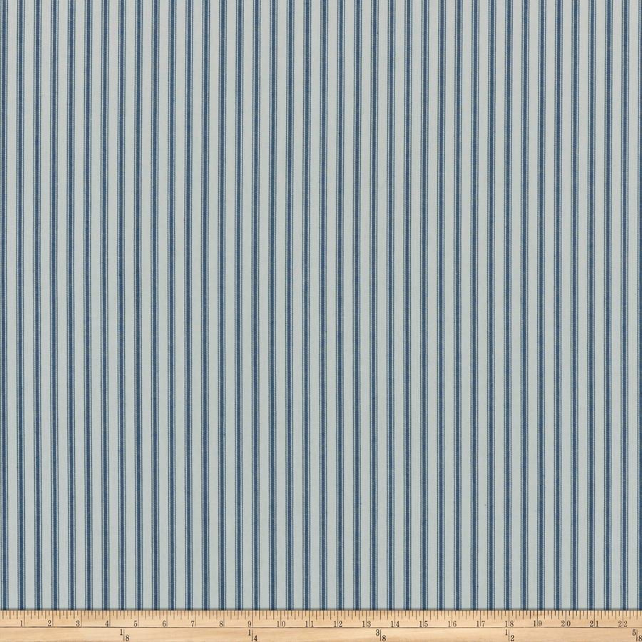 Covington woven ticking stripe denim blue for Ticking fabric
