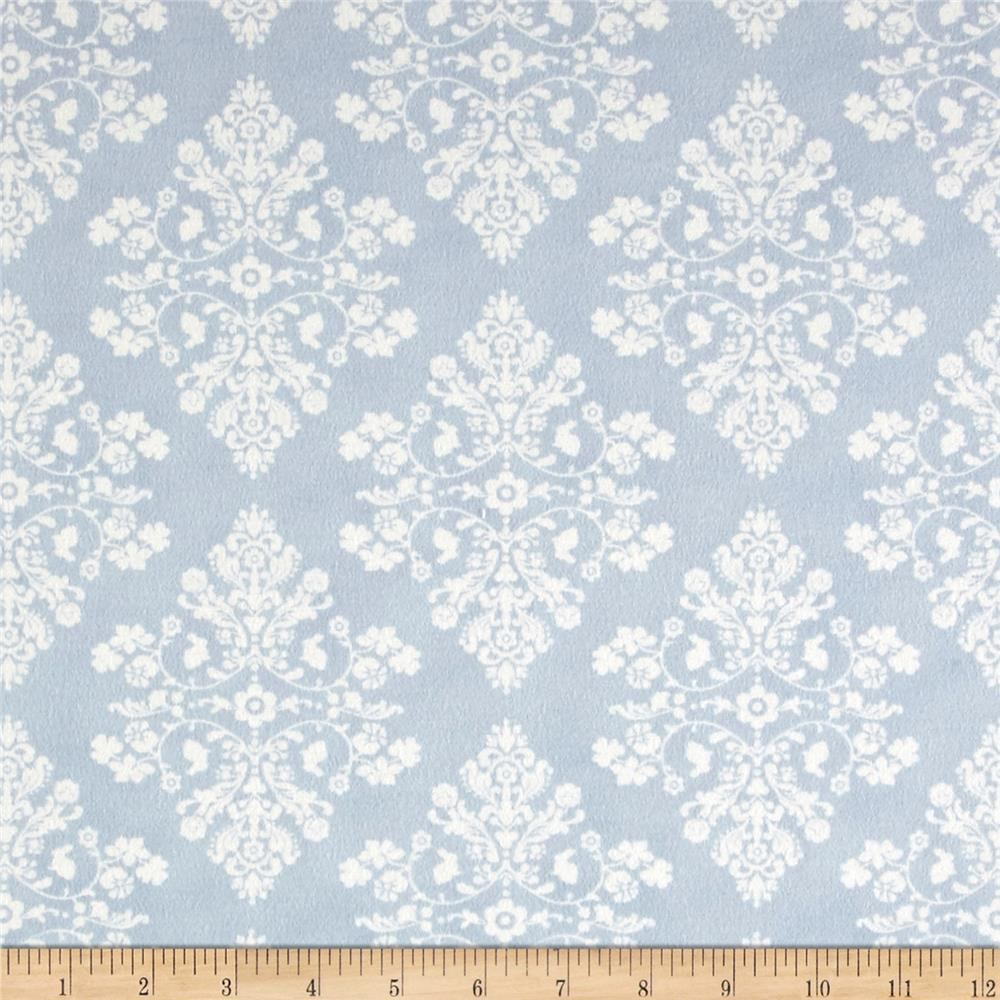 Moda Lily & Will Revistied Flannel Cottontail Toile Blue