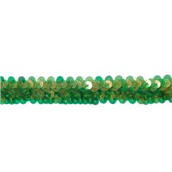 1'' Stretch Sequin Trim Iridescent Green