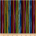 Loralie Designs Cool Cats Happy Stripe Black