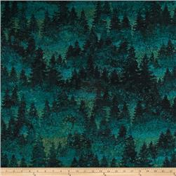 Aspen Ridge Flannel Evergreen Tree's Green