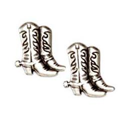 Novelty Button 3/4'' Cowboy Boot Antique Silver
