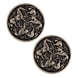 Metal Button 1'' Epona Antique Silver