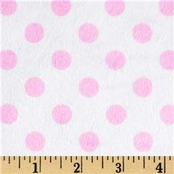 Minky Minnie Dots White/Light Pink