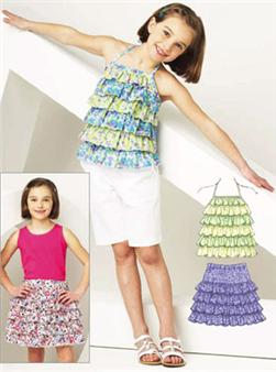 Kwik Sew Girls' Ruffly Top & Skirt Pattern
