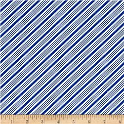 Frosty the Snowman Everyone's Fav Snowman Diagonal Stripe Royal Blue