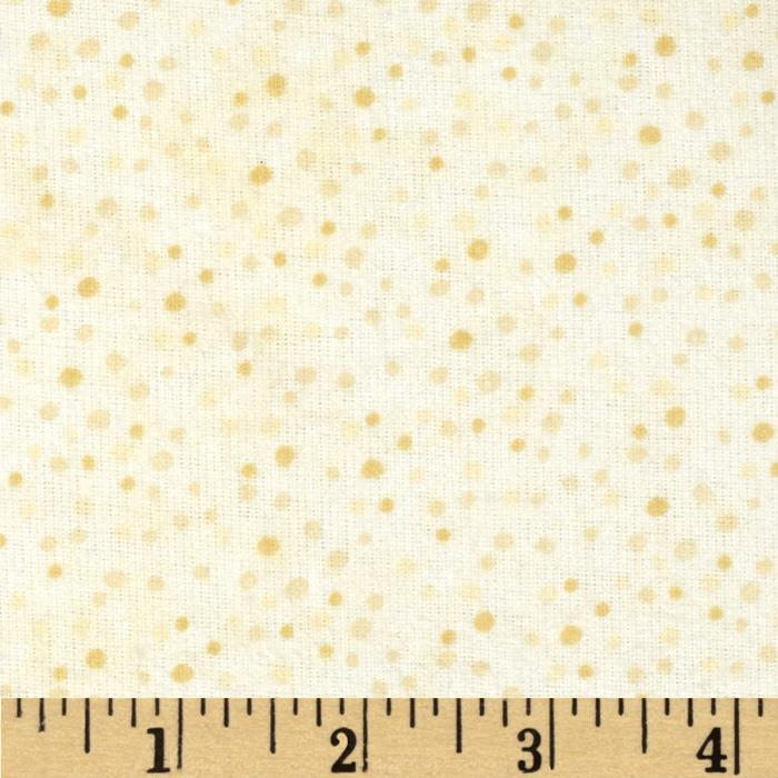 Essentials Flannel Petite Dots Ivory Fabric By The Yard