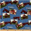Farmall International Harvester Tractor Squares Blue