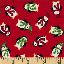 Christmas Mini Penguins Red