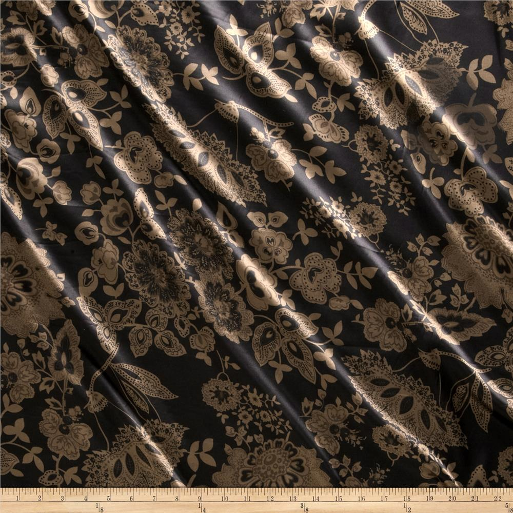 Charmeuse Minsk Black/Brown Fabric