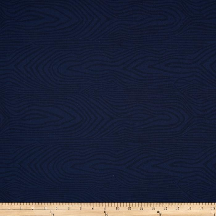 "110"" Wide Quilt Back Moire Navy"