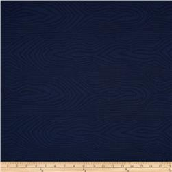 """110"""" Wide Quilt Back Moire Navy"""