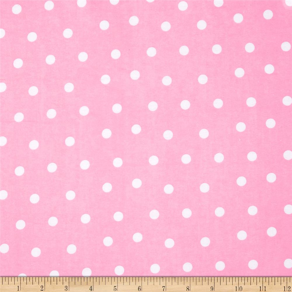 Flannel Dots Pink