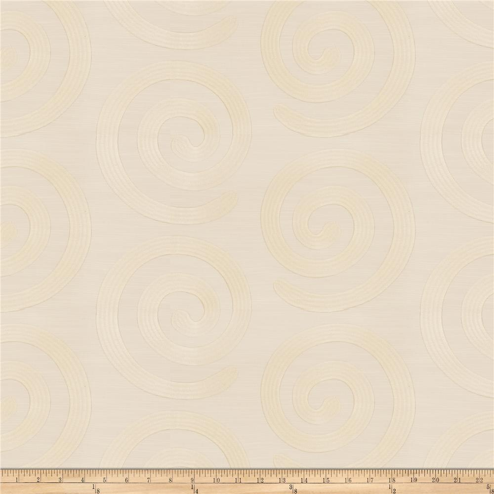 Fabricut Warm Hearted Satin Jacquard Ivory