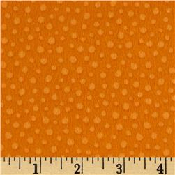 Woodland Friends Flannel Dots Orange