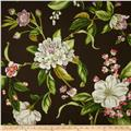 Waverly Williamsburg Collinson Floral Twill Graphite